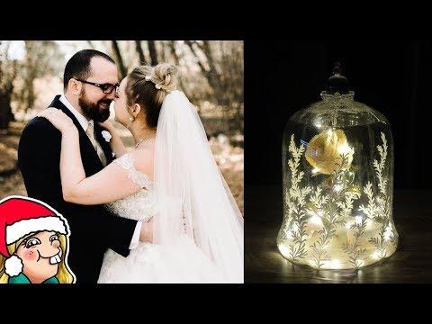 DIY Enchanted Rose Decoration + Wedding Photos 🎄Arty Advent Day 10 🎄