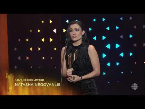 Natasha Negovanlis 2017 Fan's Choice Award Acceptance Speech