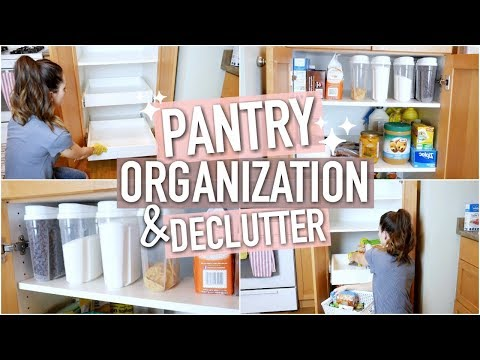 DEEP CLEAN AND ORGANIZE WITH ME! DOLLAR TREE PANTRY DECLUTTER 2018 || SPRING CLEANING EPISODE 2