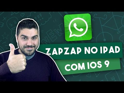 Tutorial: WhatsApp no iPad com iOS 9 - SEM JAILBREAK