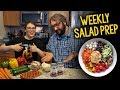 Our Weekly Salad Prep Guide (Plant Based, Vegan, Oil Free)