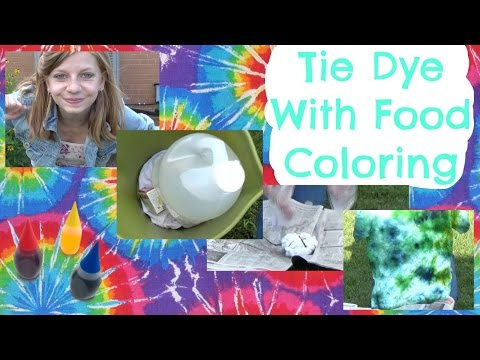 Tie Dye With Food Coloring | OMMyGoshTV