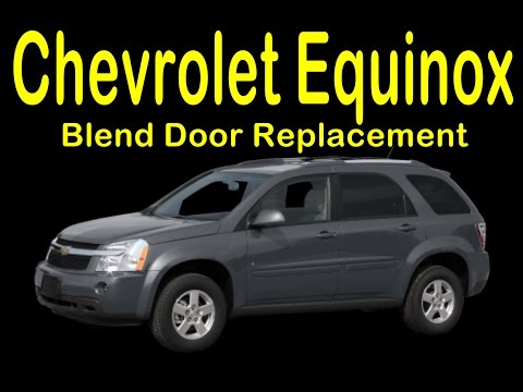 How to 2005 to 2009 Chevrolet Equinox Blend Door Replacement and Dashboard Removal