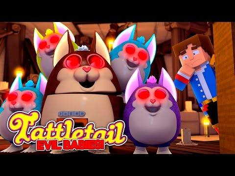 Minecraft Adventure - MAMA TATTLE TAIL & HER EVIL BABY TATTLE TAILS WANT REVENGE w/ BABY LEAH.