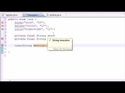 Java Programming Tutorial - 44 - Enumeration