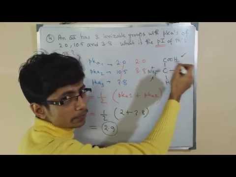 Amino acid pI value problem | CSIR UGC NET exam papers| practice problems