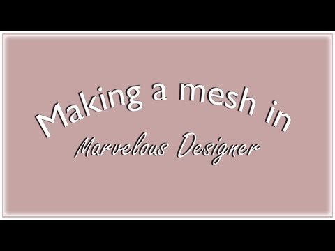 THE SIMS 4 | Speed video | Making a mesh in Marvelous Designer