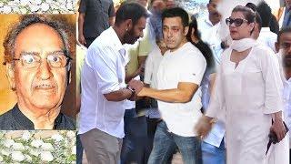 Ajay Devgan, Kajol Emotionally Meet Salman Khan at His Father Prathna Sabha   Many Celebs Attend