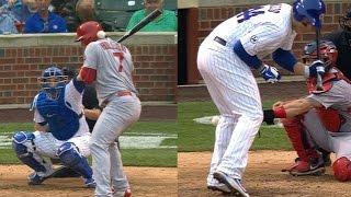 STL@CHC: Cubs, Cardinals trade hit batters