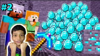 WE FOUND DIAMONDS IN MINESHAFT | DUO SURVIVAL | MINECRAFT GAMEPLAY #2