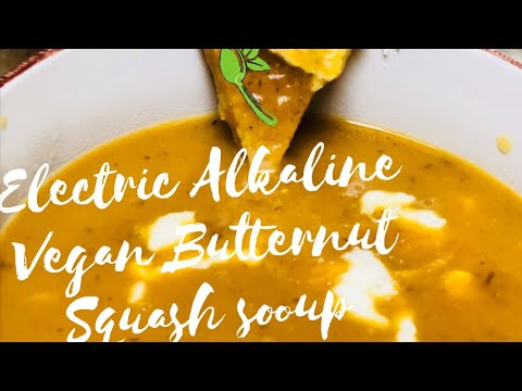 Electric Vegan Butternut Squash Soup made with Dr.Sebi approved ingredients