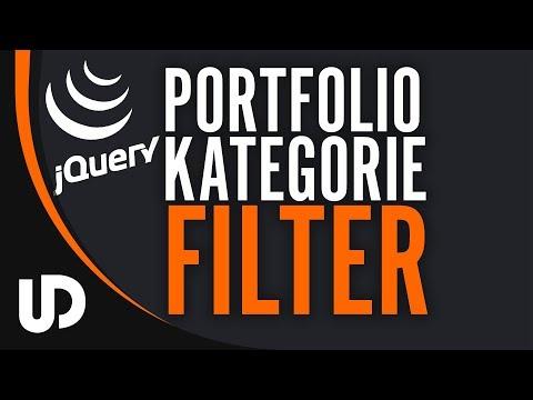 jQuery basierte Filter Funktion für Kategorien & Portfolios! [Tutorial]