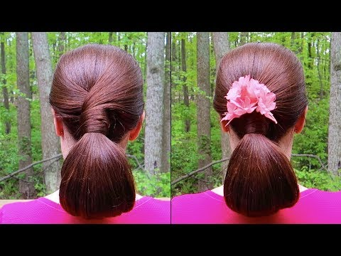 Relaxing Chignon Hairstyle Tutorial for Long Hair 🐦 Natural Forest Sounds