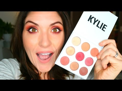 Kylie Cosmetics THE BURGUNDY PALETTE | First Impresison + Review, Swatches & Tutorial
