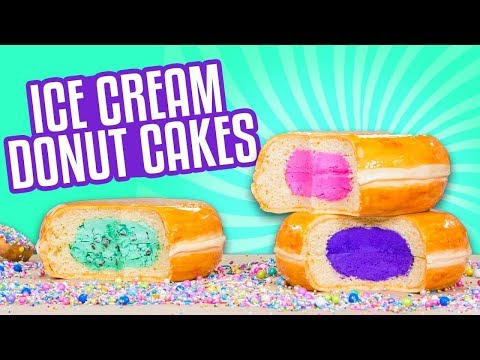 3 Flavors Ice Cream Donut CAKES! | How To Cake It