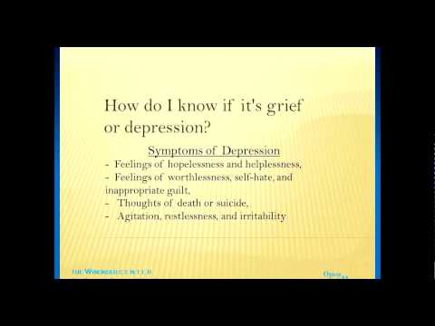 Webinar-How Do I Know If It's Grief or Depression