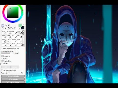 Speed painting SAI - Water(2017)