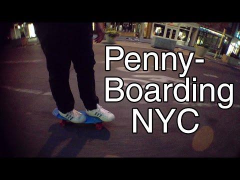 (Mongo) Pennyboard Adventure in Manhattan, NYC!!!
