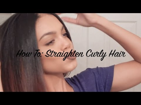 How To: Straighten Curly Hair