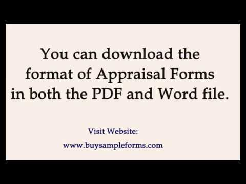 Sample Appraisal Form Templates Word | Employees Performance Examples