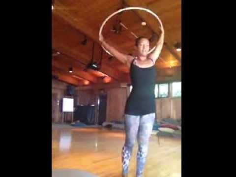Caribbean Queen Hoop Dance Flow Practice with HoopYogini Jocelyn Gordon
