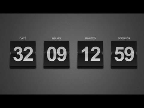 Create a Sleek Countdown Timer -- Photoshop Tutorial