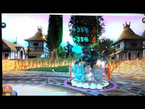 Wizard 101 Fire Efreet Spell (Almost amillion)
