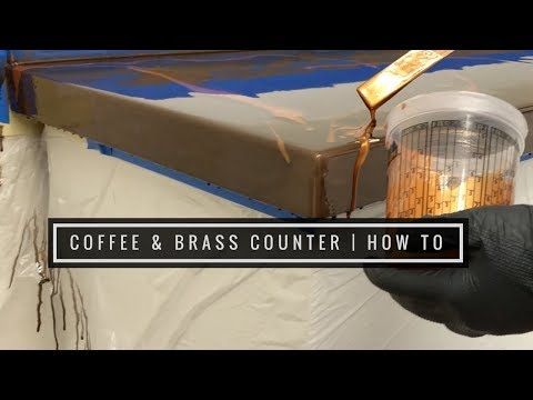 How To   Coffee & Brass Countertop