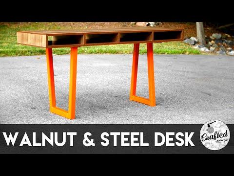 Walnut Plywood & Steel Desk, Part 2 : Building The Desk Top | Crafted Workshop