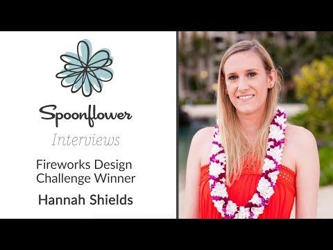 Spoonflower Interviews... Hannah Shields AKA hannahshields   Spoonflower