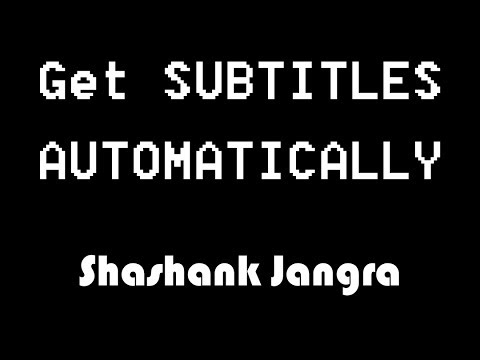 Download Subtitles Automatically for FREE