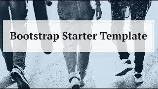 Bootstrap Starter Template - Free HTML Website Templates