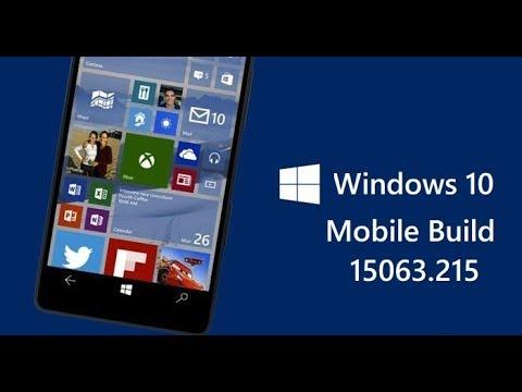 Windows 10 Mobile Build 15063 215
