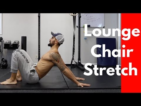 How to Lounge Chair Stretch (Shoulder Extension Stretch)