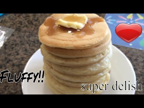 Easy, quick and super fluffy pancakes! No baking soda