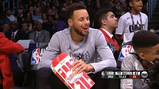 Stephen Curry Eats Popcorn / 2018 NBA All-Star Game