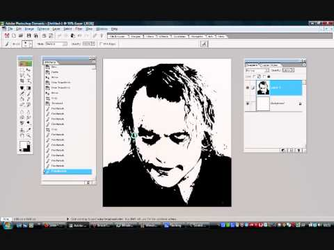 Tutorial on turning an image into a stencil using photoshop.