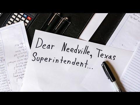Dear Needville Texas Superintendent