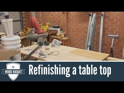 092 - How to refinish a table top