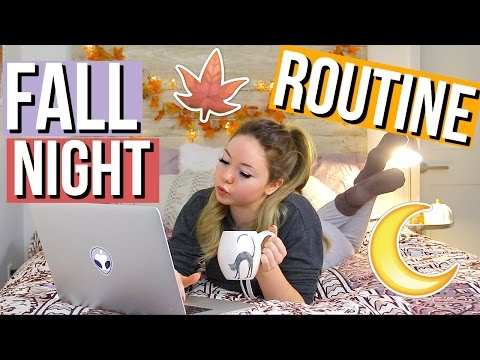 FALL NIGHT ROUTINE! | Meredith Foster