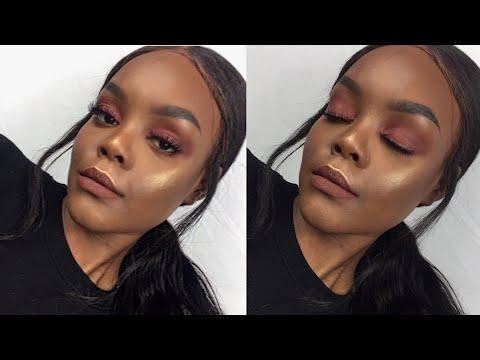 Quick & Simple Fall Makeup Tutorial | Burgundy Red Eyeshadow