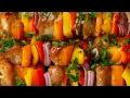 Honey-Garlic Chicken & Veggie Skewers