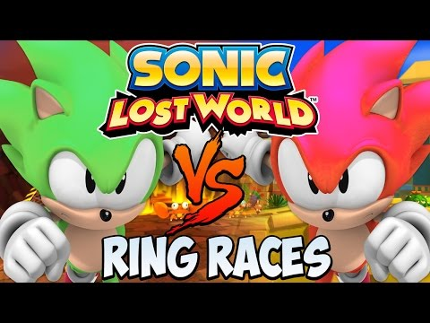 Sonic Lost World (Wii U) - 2 Player Multiplayer - Ring Races [HD]