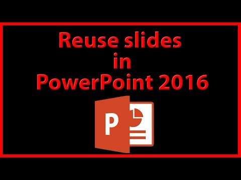 How to import and reuse slides in PowerPoint 2016 - Tutorial