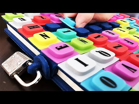 WAFF Secret Diary with cute squishy alphabet ABC. Write your own words. Let's Play Kids.