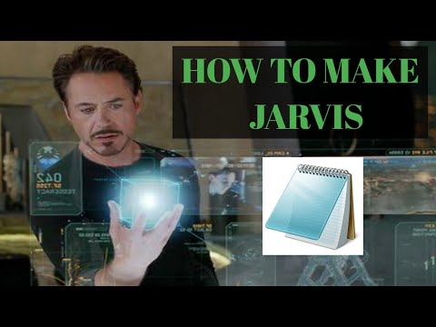 How to make a Jarvis software in Notepad