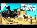 DERAILING TRAINS and Destroying Cities! - Beware of Trains Gameplay