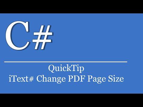 QuickTip #322 - C# Visual Studio .NET Tutorial - iText# Change PDF Page Size