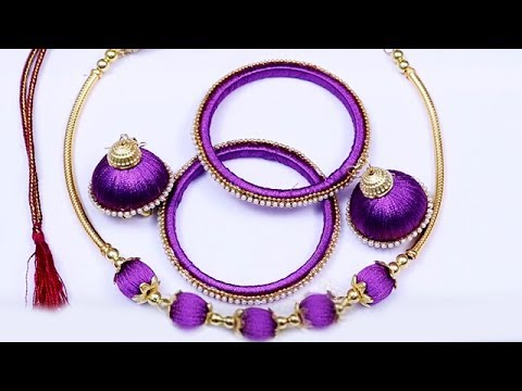 Making of ring model Silk Thread Jewelry Set | Necklace, Bangles, Jhumkas....
