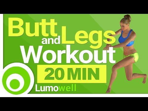 Butt and Legs Workout - 20 Minute Exercises to Tone Bum and Legs Fast
